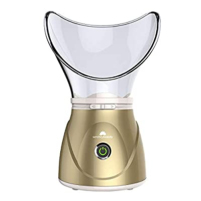 Digital Face Facial Steamer Spa Pores Steam Sprayer Skin Beauty Clean Sauna Mist (Gold) by Guaranteed4less