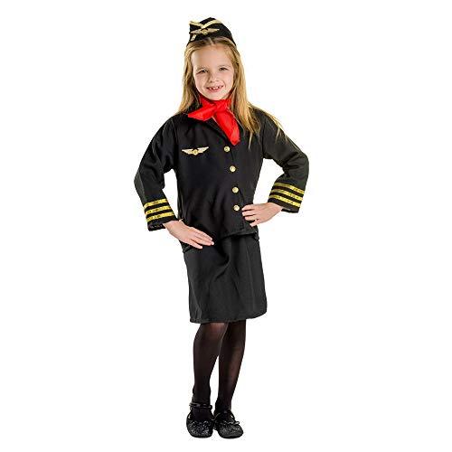 Dress Up America- Hostess Set di Costumi Ragazza Assistente di Volo per Bambini, Multicolore, taglia 1-2 anni (vita: 61-66, altezza: 84-91 cm), 366-T2