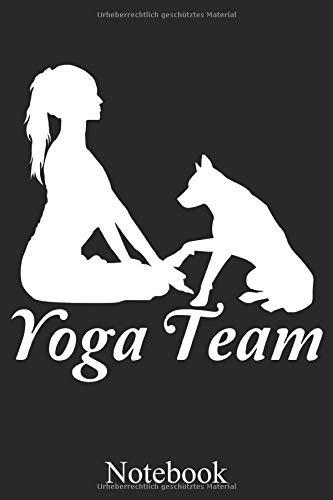 Yoga Team: Yoga Mit Hund Pose Notizheft, Schreibheft, Tagebuch (Taschenbuch ca. DIN A 5 Format Liniert) von JOHN ROMEO: Joga Hundeliebhaber Notizheft ... für Frauen, Männer, Kinder – Von JOHN ROMEO