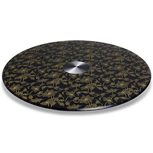 Turntable QFF@ Eettafel, draaitafel, 70 – 110 cm diameter, gehard glas, draaitafel serveerbord, grote ronde draaitafel, hoge belastbaarheid, perfect voor alle eettafels