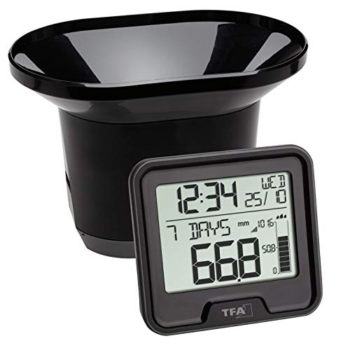 TFA Dostmann Wireless Digital Rain Gauge 365 days history