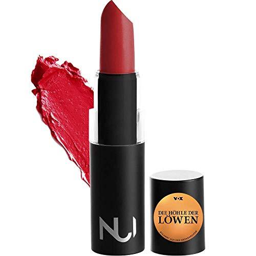 NUI Cosmetics Naturkosmetik vegan natürlich glutenfrei - Natural Lipstick AROHA Lippenstift mit strahlened hellem Rot Farbton