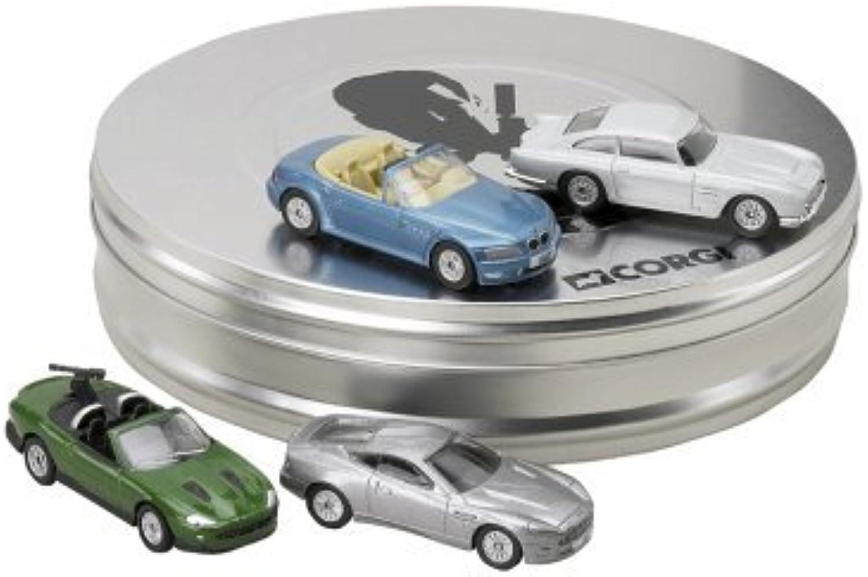tienda de bajo costo Corgi James Bond 4 Piece Piece Piece Bond Coche Film Can Set by Corgi  exclusivo