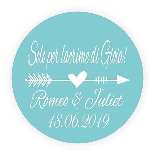 DouxArt 100pcs 40MM Aufkleber Personalisiert Solo pro Lacrime di Gioia Hochzeit begünstigt Siegel, Kommunion Umschläge Etiketten V1352