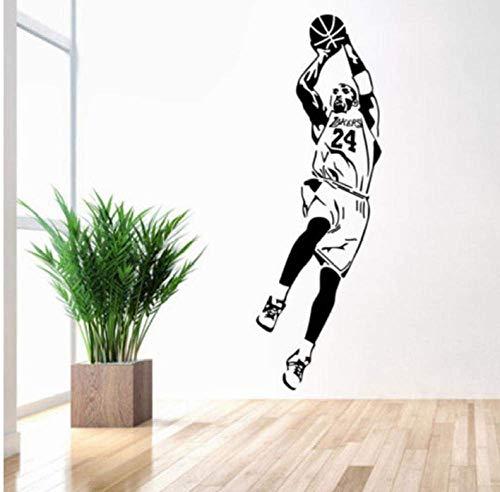 Etiqueta De La Pared Papel Pintado De La Nba Jugador De Baloncesto Pegatinas De Pared Decoración Para El Hogar Fan Regalos Niño Habitación Pegatina Vinilo Verruga Etiqueta De La Pared 42X125Cm
