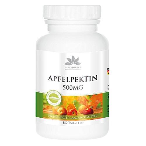 Pectina de manzana 500mg – contiene calcio – Vegana – 180 comprimidos