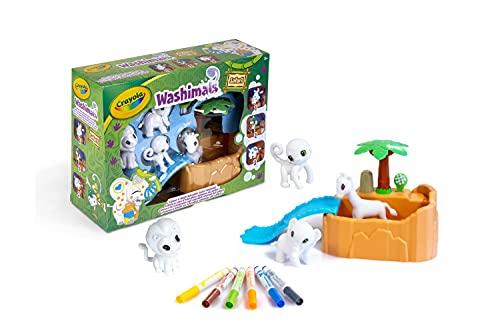 Crayola - ColorNWash - Mes Animaux à Colorier - Kit Safari - Dessiner - Laver - Recommencer - 256480.006