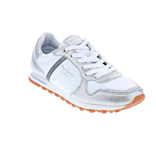Pepe Jeans Verona W PLS 30983 Blanco/Plata Zapatillas para Mujer