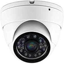 Xgigcam CCTV Camera HD 1080P 4-in-1 (TVI/AHD/CVI/960H CVBS) Security Dome Camera, Aluminum Housing 3.6mm Lens, Day & Night Monitoring IP66 (White)