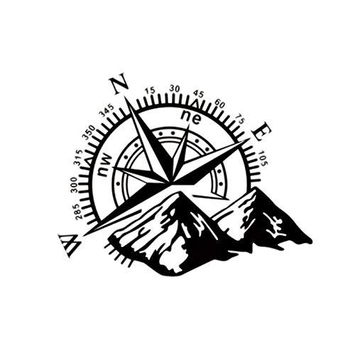 Cikuso 50X60Cm Navigation De Montagne De Capot De Voiture Autocollant De Voiture Noir