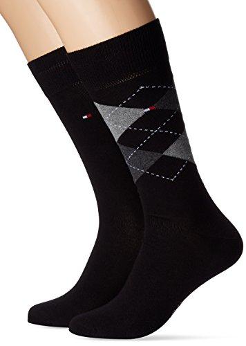 Tommy Hilfiger 391156, Calcetines para Hombre, OPACAS Negro (Black 200) 43/46 (Tamaño del fabricante:043)