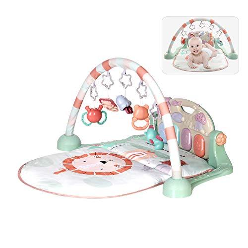 LYXCM Alfombra de actividades para el gimnasio para bebé, portátil, con juguete para recién nacido, con piano desmontable