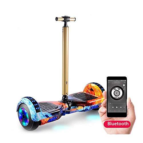 GEQWE Self Balance Scooter Eléctrico Hover Board 7 '' con Control Remoto Inalámbrico Y Pasamanos De Seguridad De Longitud Ajustable con Bluetooth+ Un Conjunto De Equipo De Protección