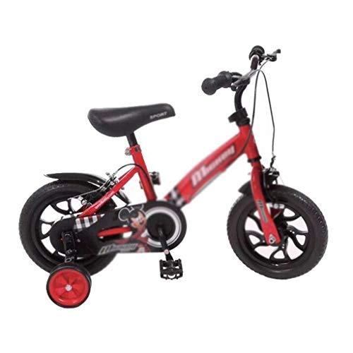 ZGQA-GQA De los niños de Bicicletas de 12 Pulgadas Cochecito de bebé Fresco Forma de Estudiantes de la Bicicleta de la Bicicleta a Prueba de Golpes Liso de Color: Rojo, Tamaño: 12INCH (83cm * 33 cm *