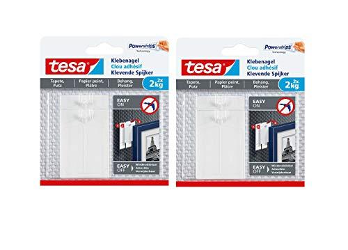 tesa Klebenagel für Tapeten und Putz 2 kg halteleistung (2 kg 4 Nägel)