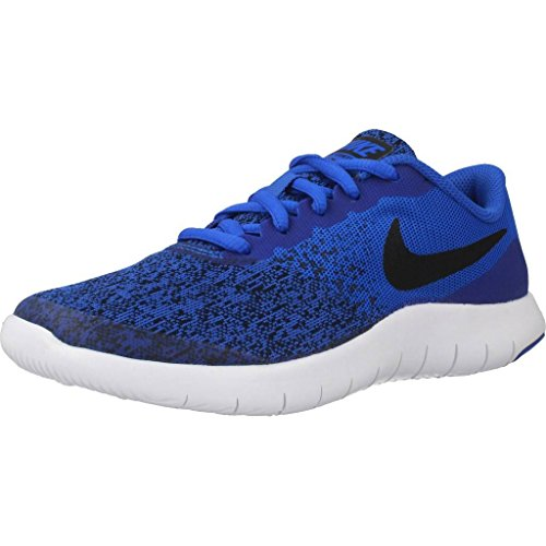 Nike Unisex Kinder Flex Contact Laufschuhe, Blau (Racer Blue/Black-White 402), 36 EU