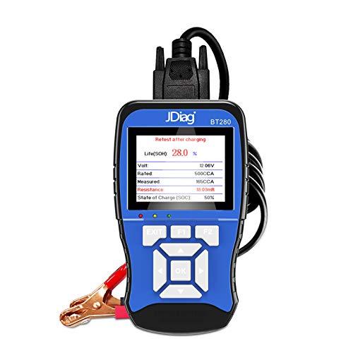 KKmoon Auto Batterietester Digital 12V 100-2000 CCA Kfz Last Batterietester Digitales Batterie Analysel Werkzeug Universal für PKW Boot Motorrad LKW