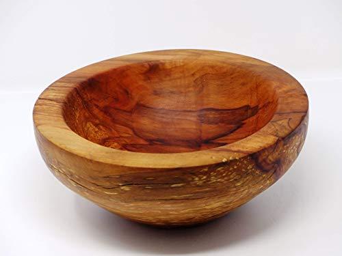 Holzschale rund aus altem gestocktem Apfel Holz - ∅ ca. 21,5 cm - H: ca. 9 cm handgemacht gedrechselt Schale Obstschale