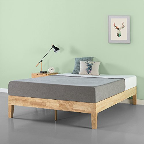 Zinus Moiz 14 Inch Deluxe Solid Wood Platform Bed Frame with Wood Slat Support / No Box Spring Needed, Twin