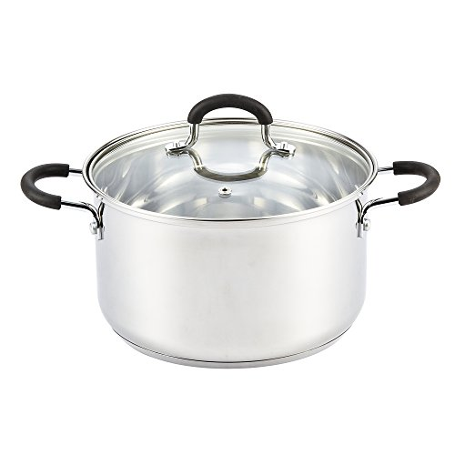 Cook N Home 5 Quart Stainless Steel Lid Stockpot