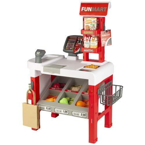 ColorBaby - Supermercado Juguete con Accesorios, Puesto de Mercado con escáner, Caja...