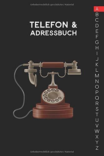 Telefon & Adressbuch: Ca. A5-Format für Adressen, Telefonnummer und Geburtstage mit A-Z Register (Adress und Telefonbuch)