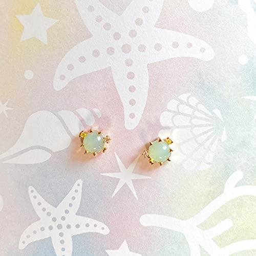 LCUK Pendientes de botón con Cristales de circonita de Animales Marinos Coloridos de Cobre para Mujeres y niñas, Pendientes encantadores de Verano, joyería de delfín, Medusas