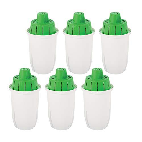 Pack de 6 cartuchos de filtro de agua compatibles con jarras Brita...