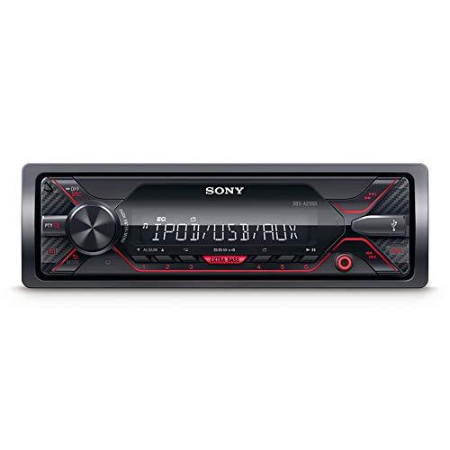 Sony DSX-A210UI Autoradio senza Lettore CD, Ingresso AUX e USB per iPhone/iPod, Android Music Playback, Potenza 4 x 55 W, Compatibile con File FLAC