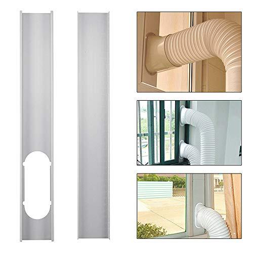 Wchaoen 2 stücke Einstellbare Fenster Rutsche Kit Platte Klimaanlage Windschild Für Tragbare Klimaanlage Werkzeugzubehör