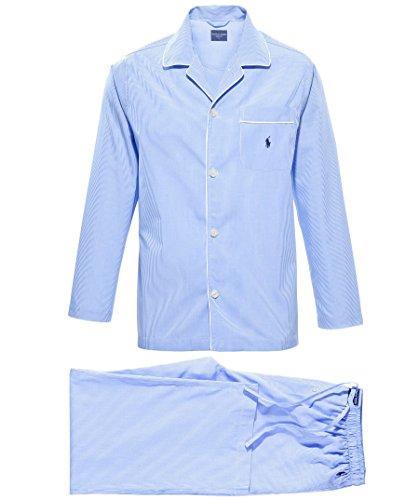 Polo Ralph Lauren Herren Zweiteiliger Schlafanzug Pyjama Set Long, Blau, L