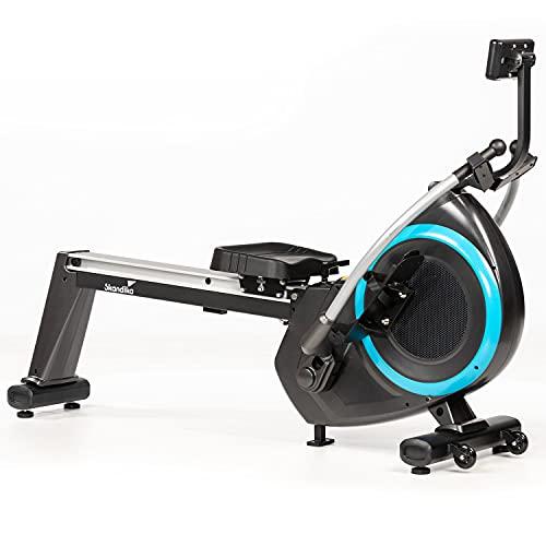 Skandika Nordlys - Rameur magnétique avec Bras articulés 3D - 16 Niveaux de résistance - 21 Prog +1 Manuel - Support Tablette - Max. 120 kg