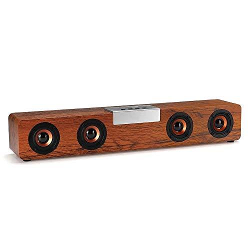 XIAOLULU Spieluhr für Mädchen Geschenke Tragbarer Holz Bluetooth 5.0 Lautsprecher Bass Music Box Unterstützung FM (Farbe : One Color, Größe : Einheitsgröße)