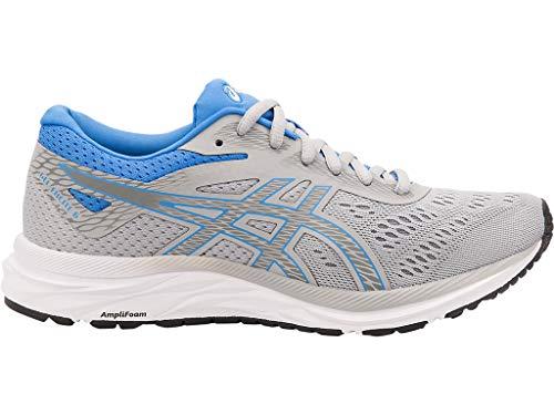 ASICS Women's Gel-Excite 6 Running Shoes, 6M, MID Grey/Blue Coast