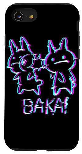 iPhone SE (2020) / 7 / 8 Baka Rabbit Slap - Funny Japanese Vaporwave Anime Meme Case