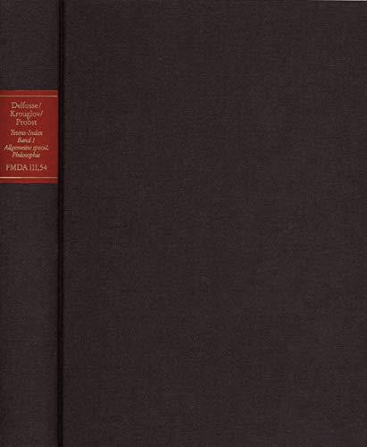 Forschungen und Materialien zur deutschen Aufklärung / Abteilung III: Indices. Kant-Index. Tetens-Index. Band 1: Stellenindex und Konkordanz zu Johann ... zu Wolff und seiner Schule. Fortsetzung 50)