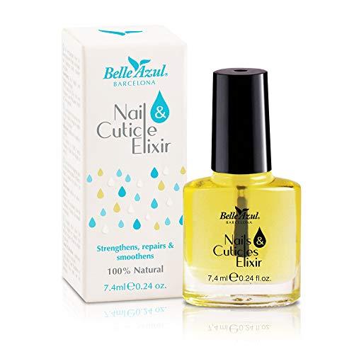Belle Azul – Aceite Reparador para Uñas y Cutículas, Antibacteriano, antiséptico y desinfectante, Mezcla de 6 Aceites Botánicos Nutritivos, 10ml.
