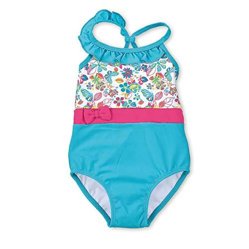 Sterntaler Mädchen Badeanzug mit Windeleinsatz, UV-Schutz 50+, Alter: 2 - 3 Jahre, Größe: 86/92, Farbe: Türkis
