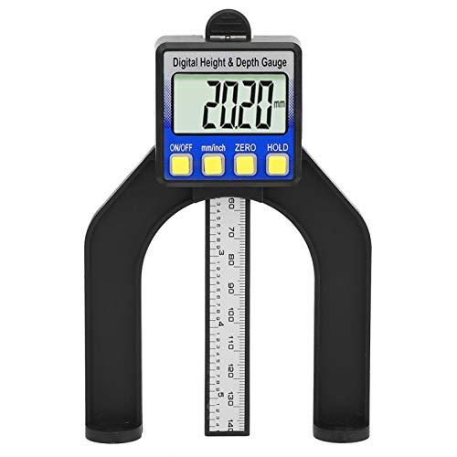 Medidor de altura magnético, medidores de profundidad de sierra de mesa ajustables, carpintero multifunción autoportante para construcción de ingeniería de carpintería(0-80mm)