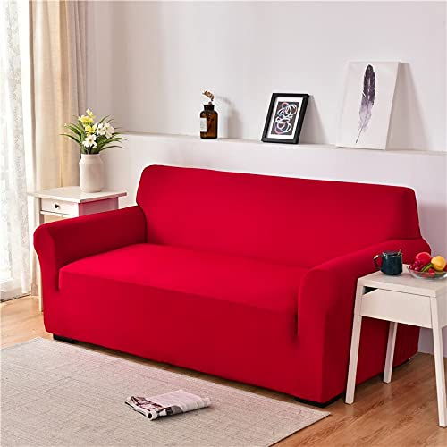 WXQY Funda de sofá elástica para Sala de Estar Funda de sofá a Prueba de Polvo Funda de sofá elástica Funda de Spandex Universal Funda de Esquina en Forma de L A9 4 plazas