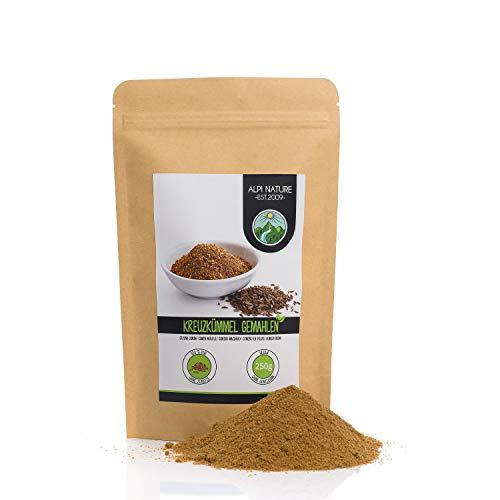 Cumino macinato (250g), polvere di cumino naturale al 100%, semi di cumino macinati naturalmente senza additivi, vegani