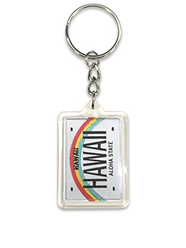 Welcome To The Island Hawaii Acrylic Foil Keychain License Plate