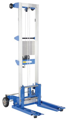Vestil A-LIFT-S-EHP Adjustable Straddle Hand Winch Lift Truck, 42-1/2' Length, 43-1/4' Width, 80' Height, 350 lbs Capacity