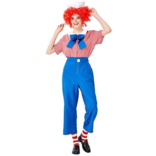 BYYDYSRFLO Disfraz de Payaso de Circo Steampunk gtico para Mujer, Apto para Carnaval, Fiesta de Cosplay de Halloween(Color:Blue,Size:S)