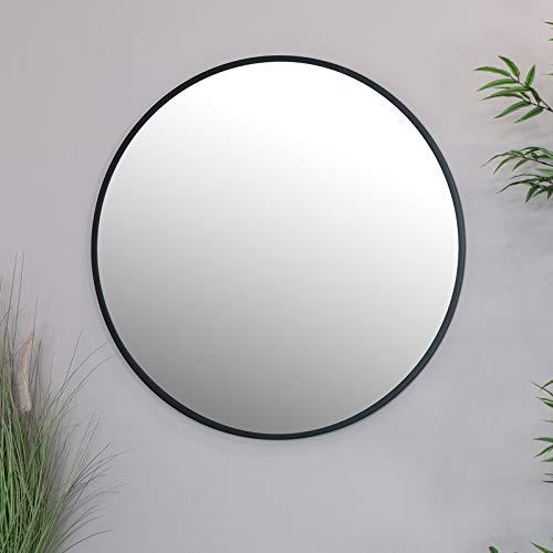 Melody Maison Espejo de pared redondo negro 80 cm x 80 cm