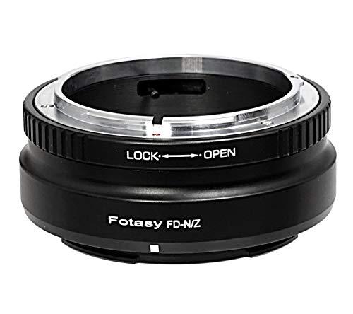 Fotasy Canon FD Lens to Nikon Z Mount Adapter, FD Nikon Z Mount Adapter, Nikon Z Canon FD, fits Canon FD FL Lens & Nikon Z Mirrorless Camera Z5 Z50 Z6 Z7 Z6 II Z7 II