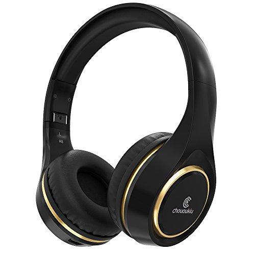 Casque Bluetooth sur l'oreille, Chououkiu Casque sans...
