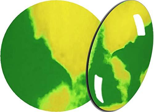 De 2 Färbiges acrylique de poudre 5 g, 2tones-05 VERT/JAUNE – envyu : # 2T pour la Rapide mais joli Nail Art