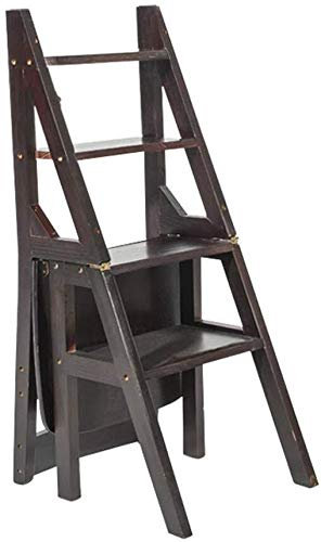 HUYP Escalera del Taburete del hogar Silla Plegable Escalera Escalada Taburete de Paso de Banco portátil Flor Rack/Zapatos/Estante de Almacenamiento