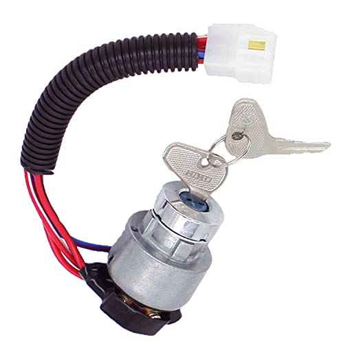 Noton parts New Ignition Switch (12V) TC02031820 TC020-31822 For Kubota Tractor L2501D L2501F L2501H L2600DT L2600F L2800DT L2800F L3000DT MX5100H L3000F L3200DT L3200F L3200H L3400DT L3400F L3700SU